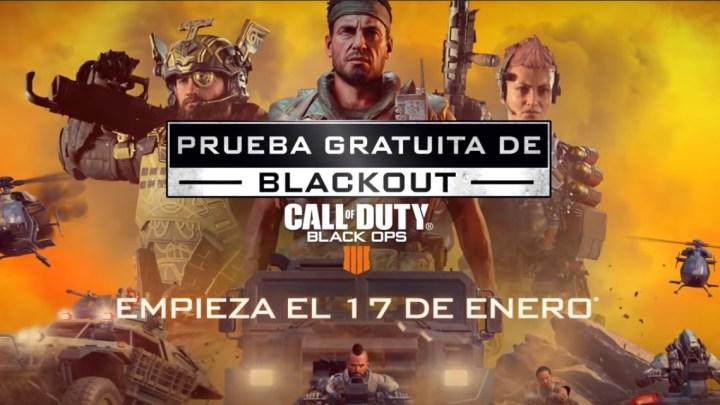 Ya disponible la prueba gratuita de Blackout de Call of Duty: Black Ops 4
