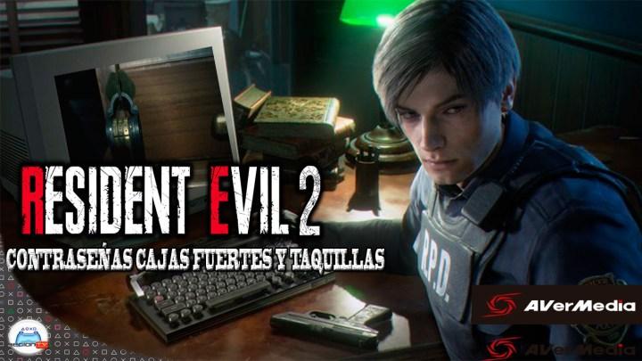 Resident Evil 2 Remake | Contraseñas cajas fuertes y taquillas Comisaria