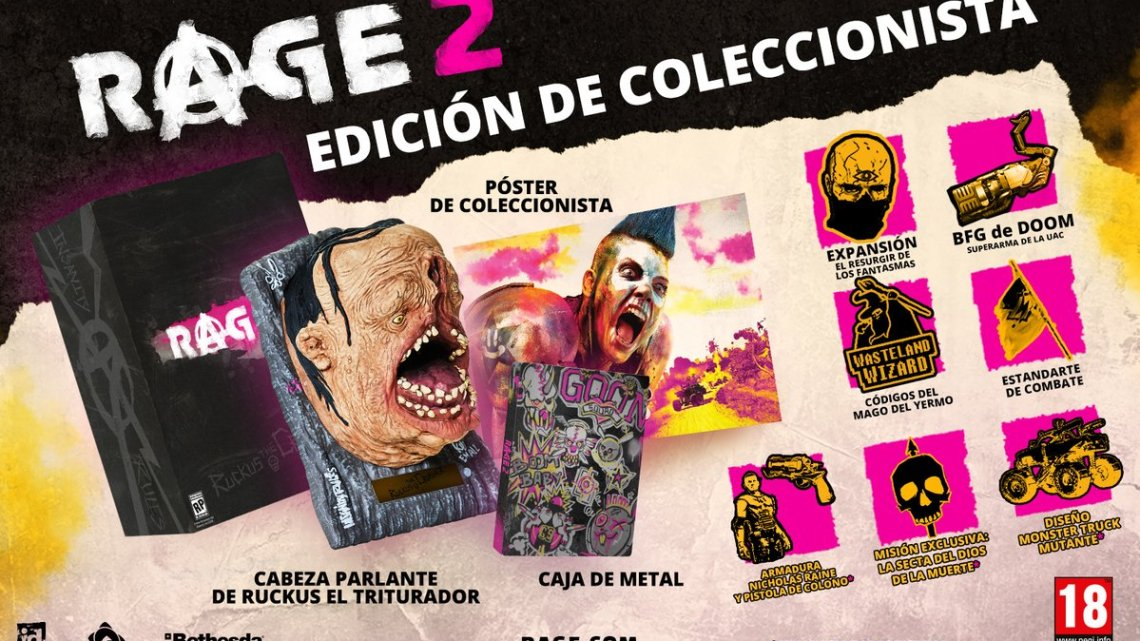 Bethesda confirma los contenidos finales de la edición deluxe y coleccionista de RAGE 2