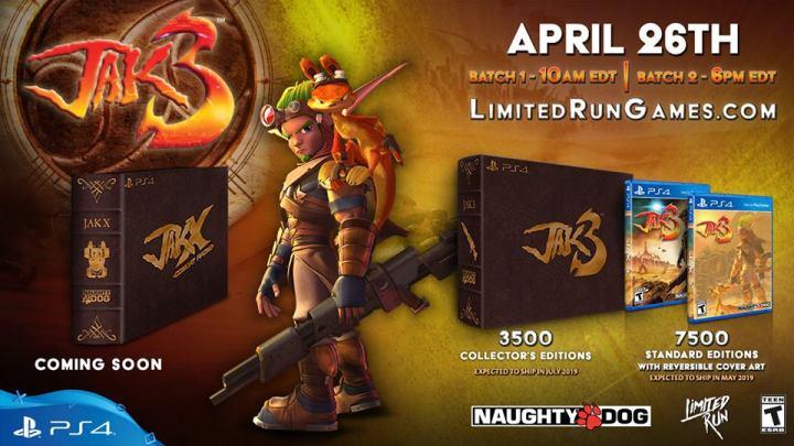 Naughty Dog confirma el lanzamiento de una edición física de Jak 3 para PS4