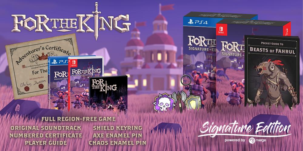 For the King se lanzará el 24 de mayo en formato físico para PS4 y Nintendo Switch