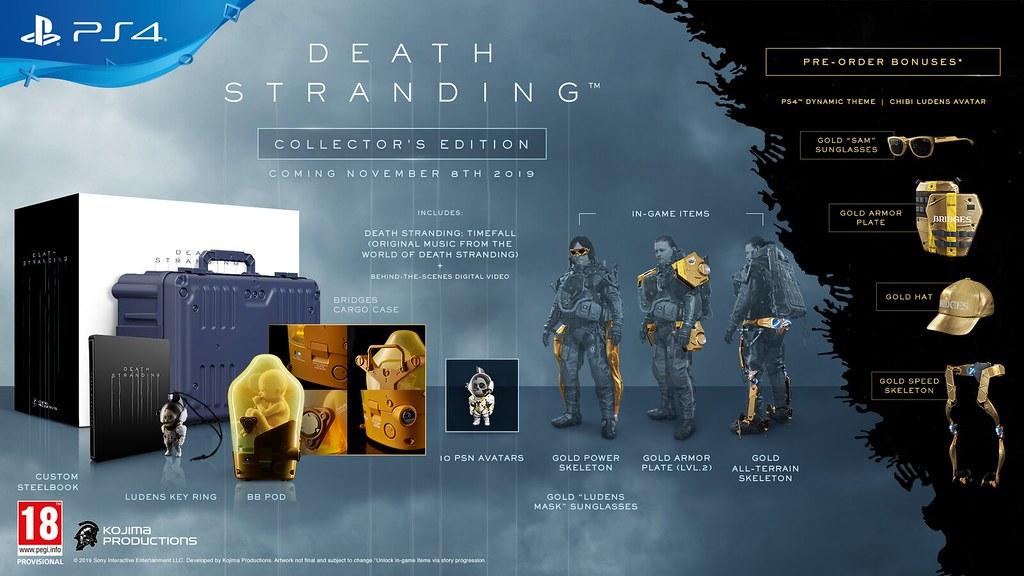 Anunciada la edición 'Especial, 'Digital Deluxe' y 'Coleccionista' de Death Stranding