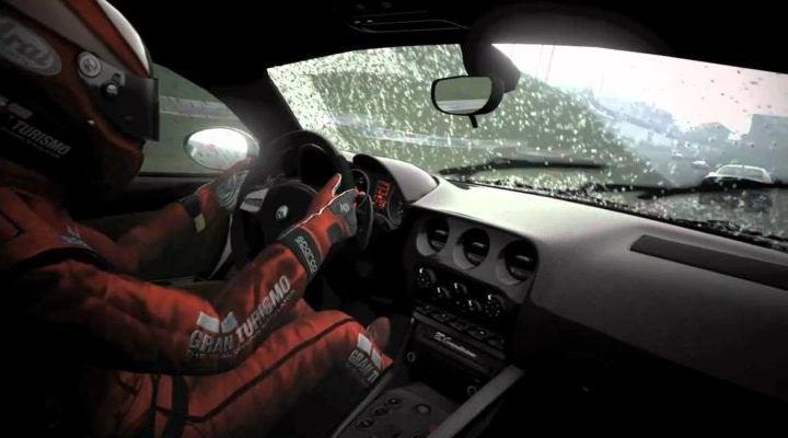 Así luce el efecto lluvia en Gran Turismo Sport