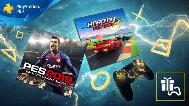 PES 2019, CoolPaintr VR y Horizon Chase Turbo, juegos gratuitos de PS4 en el PlayStation Plus de julio