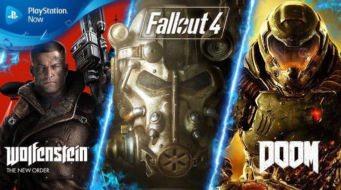 DOOM, Fallout 4 y Wolfenstein lideran la actualización de PlayStation Now de agosto