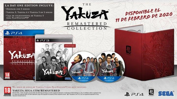 The Yakuza Remastered Collection: Day One Edition confirma su lanzamiento en PS4