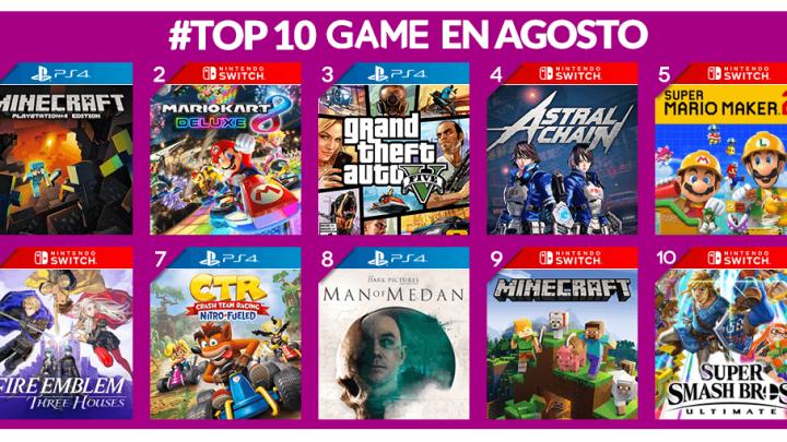 El incansable Minecraft fue el título más vendido en GAME durante el mes de agosto
