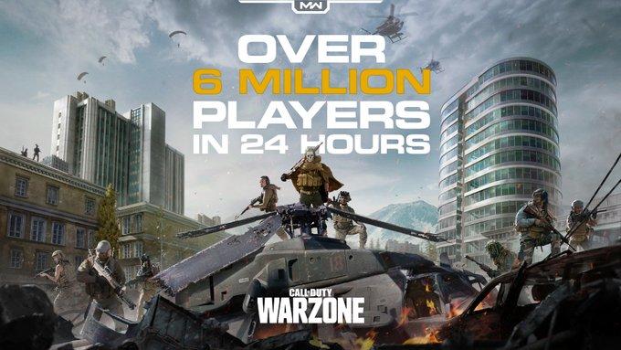 Call of Duty: Warzone supera los 6 millones de jugadores en sus primeras 24 horas