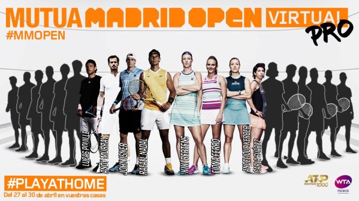 Nadal, Isner, Bertens y Ferro se suman al Mutua Madrid Open Virtual Pro