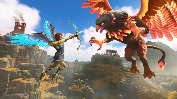 Exploración y combate en el extenso gameplay de Immortals Fenyx Rising