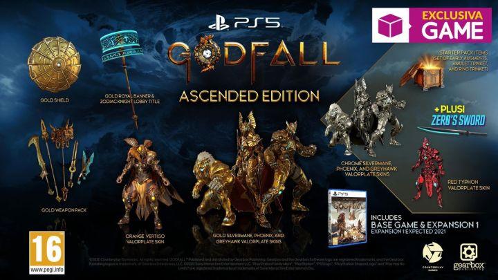 Detallados los contenidos de la 'Ascended Edition' de Godfall, que será exclusiva de GAME en España