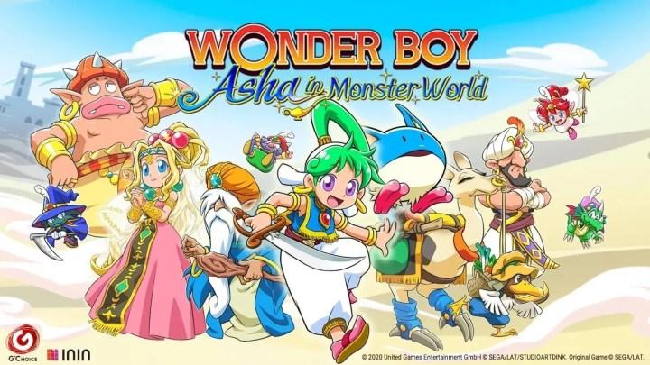 Wonder Boy: Asha in Monster World certifica su lanzamiento para el 28 de mayo en PS4 y Switch