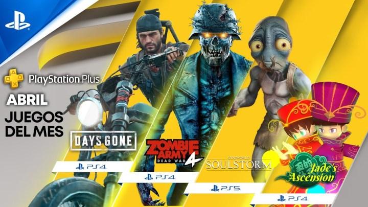 Anunciados los juegos gratuitos de abril de 2021 en PlayStation Plus para PS5 y PS4