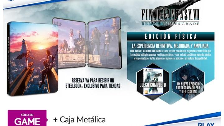 GAME ofrecerá una preciosa caja metálica con la reserva de Final Fantasy VII Remake Integrade