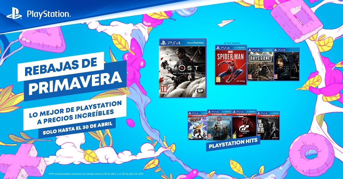 Las Rebajas de Primavera de PlayStation ya están disponibles en formato físico