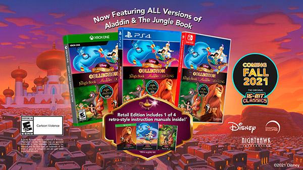 La colección de juegos clásicos de Disney: Aladdin, El Rey Leon y El Libro de la Selva, anunciados oficialmente
