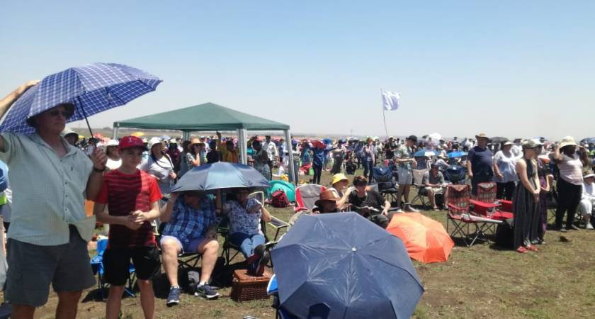 Thousands of people gather to pray for South Africa and its leaders.