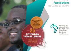 Léo Africa Institute calls for applications to the Young and Emerging Leaders Project (YELP) 2019 for young east Africans