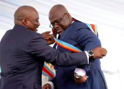 The 5th president of Democratic Republic of Congo falls ill during the inauguration speech