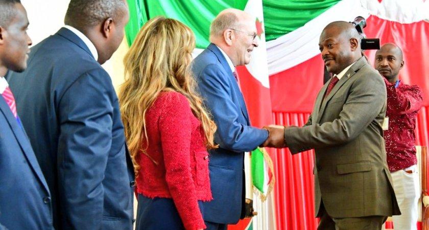 Burundi Head of State receives Merck Foundation President.