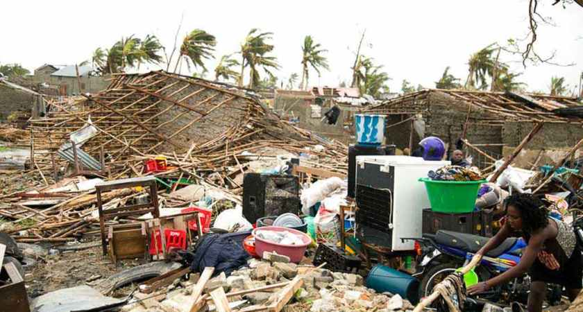 Thousands feared dead after cyclone in Mozambique.