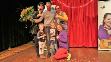Photo of Pip en Pelle verwelkomen 10.000e theaterbezoeker!