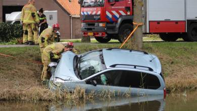 Photo of Auto te water op de Oosterweg Purmer
