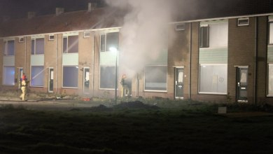 Photo of Brand in leegstaande woning Planetenstraat