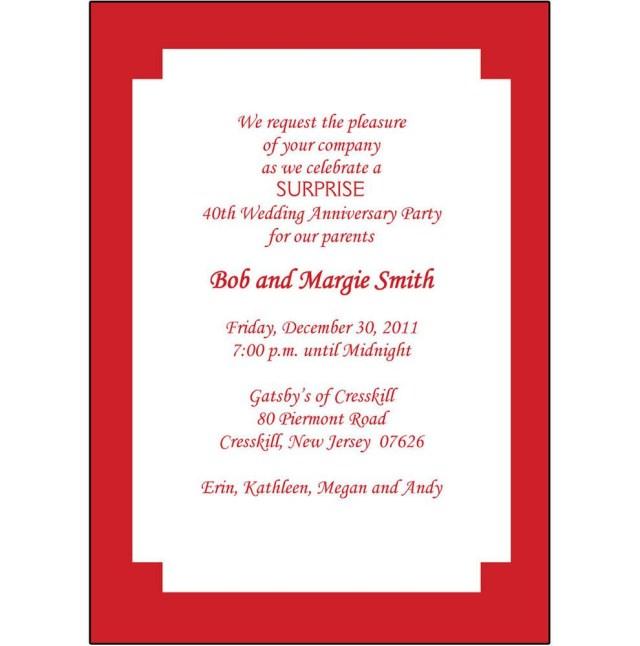 40Th Wedding Anniversary Invitations 40th Wedding Anniversary Invitation 40th Anniversary Invites 40th