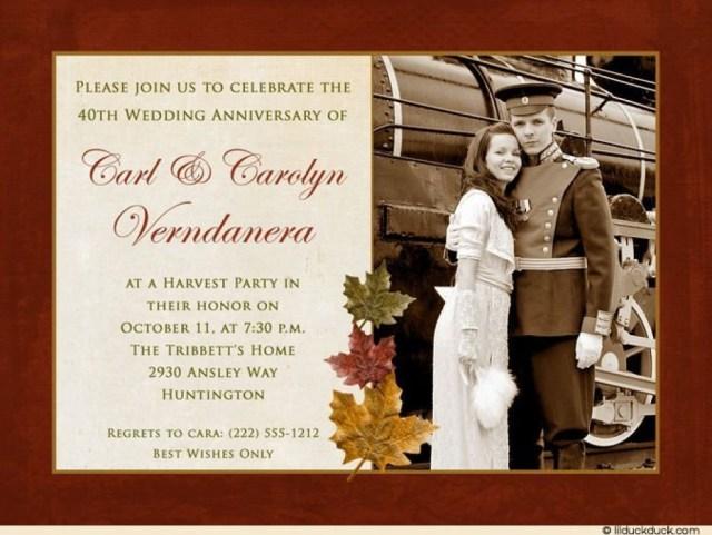 40Th Wedding Anniversary Invitations Anniversary Party Invitations Uk 40th Fascinating Wedding 40 Year