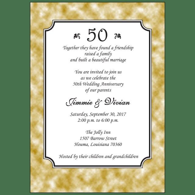50Th Wedding Anniversary Invitations Anniversary Party Invitation Style Ap 033 Ipv Studio