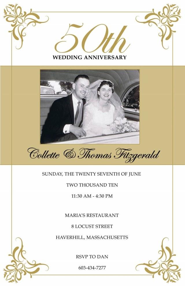 50Th Wedding Anniversary Invitations Photo Gallery Of The 50th Wedding Anniversary Party Ideas To
