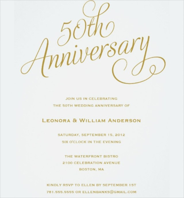 50Th Wedding Anniversary Invitations Wedding Anniversary Invitations Lovely 50th Anniversary Invitations