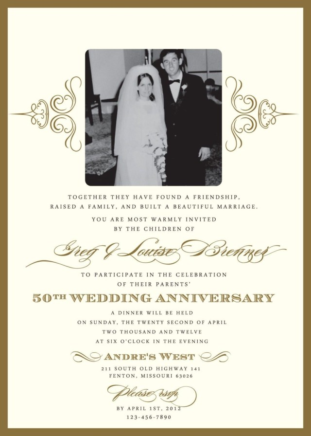 50Th Wedding Anniversary Invitations Wedding Anniversary Invitations What You Should Do To Find Out