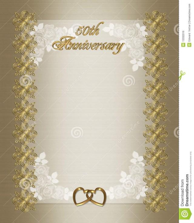 50Th Wedding Invitations 50th Wedding Anniversary Invitation Template Stock Illustration
