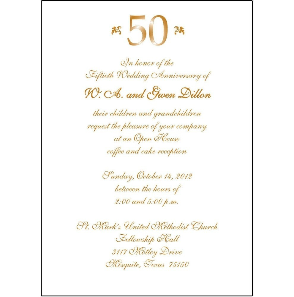 50Th Wedding Invitations 50th Wedding Anniversary Invitation Wording Awesome Wedding