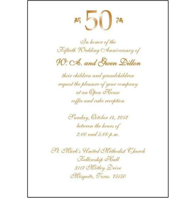 50Th Wedding Invitations 50th Wedding Anniversary Invitation Wording Awesome Wedding
