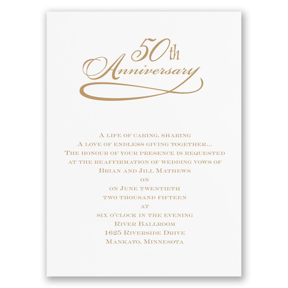 50Th Wedding Invitations Classic 50th Anniversary Invitation Invitations Dawn