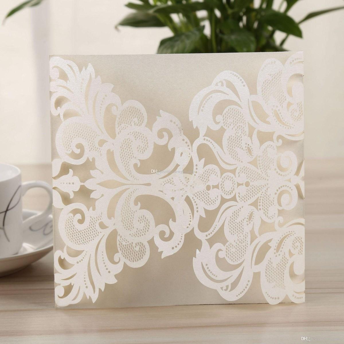 50Th Wedding Invitations Customized Wedding Invitation Card Cover In Laser Cut Invitation