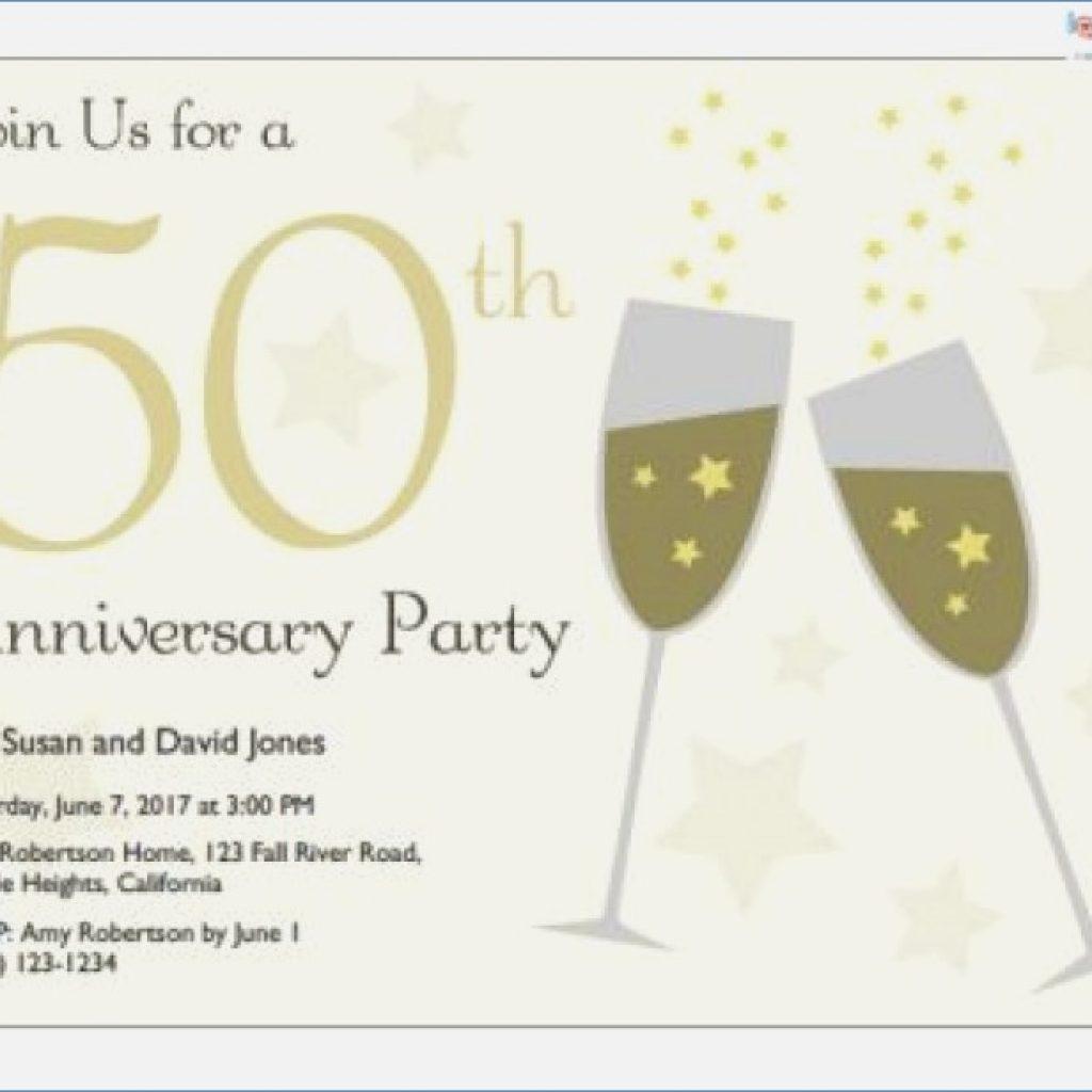 50Th Wedding Invitations Printable 50th Anniversary Invitations Free Clipart Download