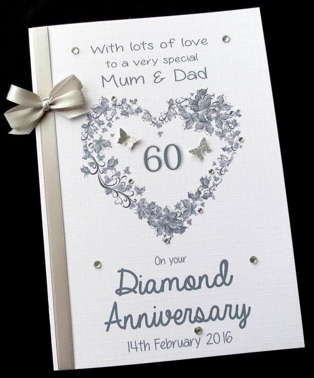 60Th Wedding Anniversary Invitations Personalised 60th Wedding Anniversary Invitations Diamonds Pack