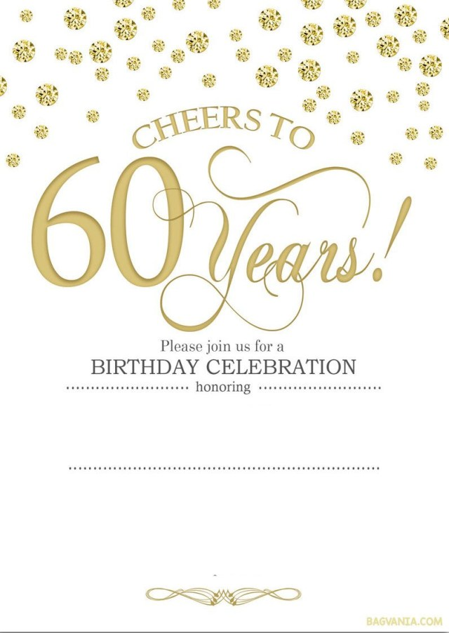 60Th Wedding Anniversary Invitations Tips Special 60th Birthday Invitations For Your Special Day