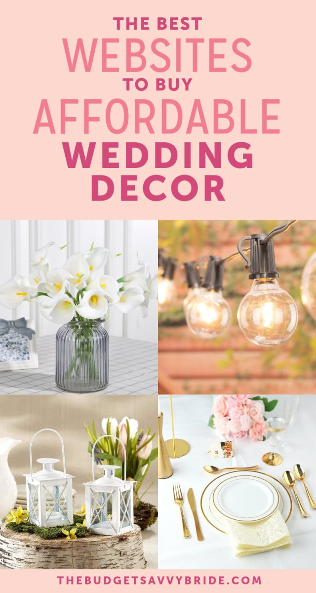 Affordable Wedding Ideas The Top Online Resources For Cheap Wedding Decor