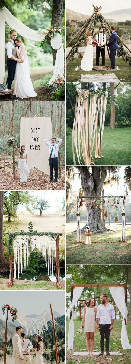 Alter Decorations Wedding 25 Chic And Easy Rustic Wedding Arch Ideas For Diy Brides