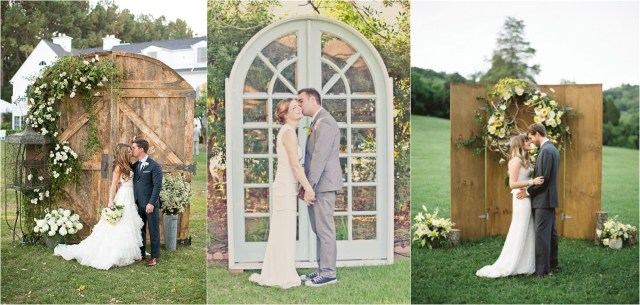 Alter Decorations Wedding 35 Rustic Old Door Wedding Decor Ideas For Outdoor Country Weddings
