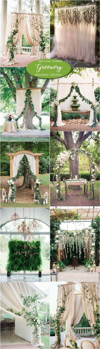 Alter Decorations Wedding Neutral Greenery Wedding Arch And Alter Ideas Wwwdeerpearlflow