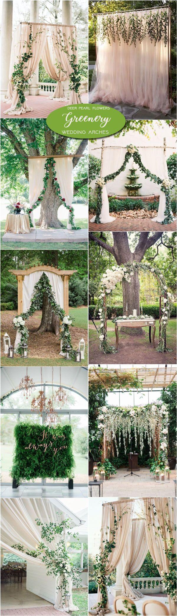 Alter Decorations Wedding Neutral Greenery Wedding Arch And Alter Ideas Wwwdeerpearlflow