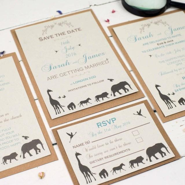 American Wedding Invitations American Stationery Wedding Invitations Luxury Elegance Safari