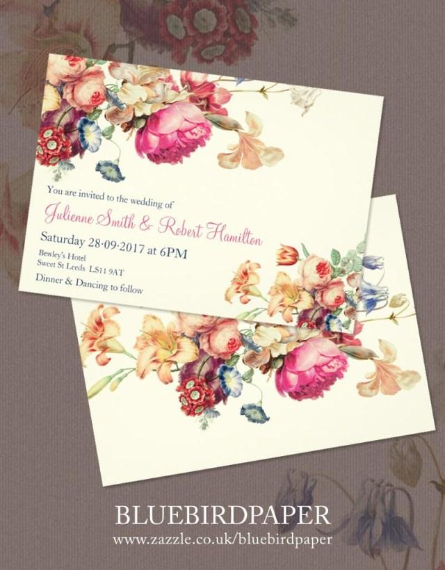 Antique Wedding Invitations Antique Garden A Floral Vintage Wedding Invitations 2460316 Weddbook