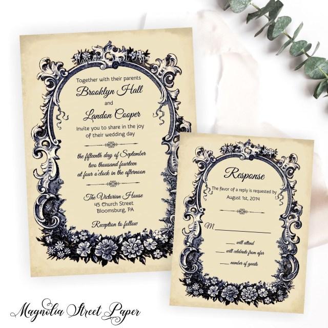 Antique Wedding Invitations French Wedding Invitation Vintage French Wedding Invite Etsy